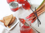 Rhubarb Vanilla Bean Jelly found on PunkDomestics.com