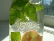 Peach-Basil Infused Vodka found on PunkDomestics.com