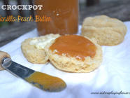 Crockpot Vanilla Peach Butter found on PunkDomestics.com