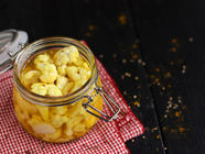 Pickled Curry Cauliflower found on PunkDomestics.com