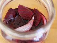 Pickled Beets with Shallots found on PunkDomestics.com