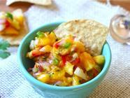 Pineapple-Mango Salsa found on PunkDomestics.com