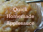 Quick Homemade Applesauce found on PunkDomestics.com