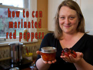 How to Can Marinated Red Peppers found on PunkDomestics.com