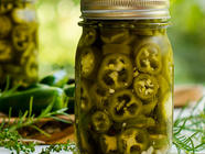 Refrigerator Pickled Jalapeños with Herbs found on PunkDomestics.com