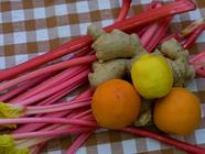 Recipes for Rhubarb Conserve & Candied Ginger