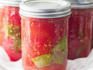 Simple Easy Homemade Canned Tomatoes found on PunkDomestics.com