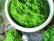 Spinach and Pistachio Pesto found on PunkDomestics.com