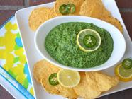 Spinach Dip or Cilantro Pesto found on PunkDomestics.com