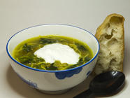 Nettle Lentil Soup found on PunkDomestics.com