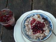 Strawberry Rhubarb Jam with Organic Sugar found on PunkDomestics.com