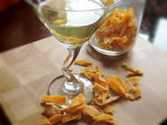 Candied Lemon Zest & a Cocktail found on PunkDomestics.com