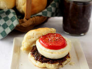 Maple Bourbon Bacon Jam w/Poached Egg Biscuit