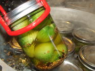 Beer Brined Green Tomatoes