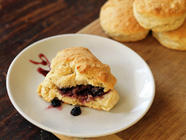Homemade Biscuits and Mulberry Jam