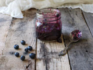 Blueberry Jam with Brown Sugar  found on PunkDomestics.com
