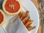 Candied Grapefruit Peel found on PunkDomestics.com