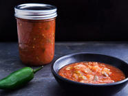 Canned Tomato Salsa found on PunkDomestics.com