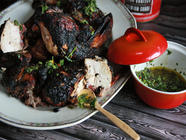 Chimichurri Marinade for BBQ Chicken found on PunkDomestics.com