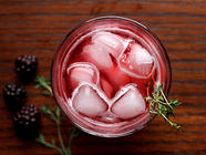 Blackberry, Lemon, &amp; Thyme Soda