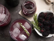 Blackberry Syrup with Rosemary & Vanilla