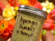 Raw Asparagus Pesto Hummus found on PunkDomestics.com