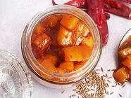 Ginger Jaggery Chutney with Mango Chunks found on PunkDomestics.com