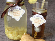 Ginger Infused Vodka found on PunkDomestics.com