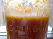 Peach Plum Bourbon Barbecue Sauce