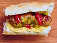 Homemade Weisswurst Dog! found on PunkDomestics.com