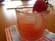 Rhubarb Shrub and a Pretty In Pink cocktail found on PunkDomestics.com