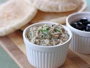 Baba Ganoush with Goat Cheese & Olives
