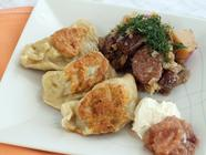 Duck Confit Pierogies &amp; Bigos