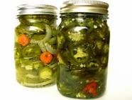 Canning Candied Jalapenos and Escabeche found on PunkDomestics.com