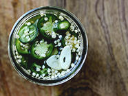 Quick Pickled Garlic Jalapeños found on PunkDomestics.com