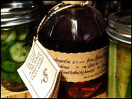 Blanton's Bourbon & (Maple-Bourbon) Pickles