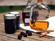 Maple Bourbon Blackberries