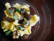 Easy Morel Pasta found on PunkDomestics.com