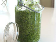 Arugula and Pistachio Pesto found on PunkDomestics.com