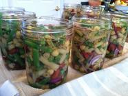 Canning Pickled Three Bean Salad 