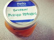 Bourbon Pickled Peaches found on PunkDomestics.com