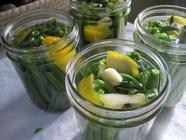 Pickled Green Beans with Rosemary and Lemon
