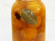 Spice Pickled Mirabelle Plums