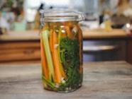 Seasonal Veggie Fridge Pickles found on PunkDomestics.com