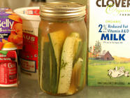 Easy Refrigerator Pickles found on PunkDomestics.com