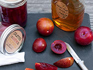 Plums in Wine &amp; Honey