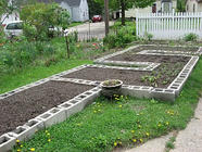 Build Your Own Concrete Block Raised Beds found on PunkDomestics.com