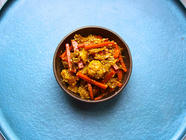 Cauliflower, Cabbage, and Carrot Achar
