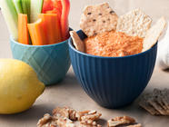 Lemon Walnut Roasted Red Pepper Dip found on PunkDomestics.com