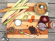 Rhubarb BBQ Sauce found on PunkDomestics.com